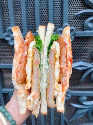 Sandwich Tôm 2 Tầng Trứng Phô Mai
